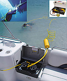 One Person Deck Snorkel 12 Volt Dive System-Welcome Aboard