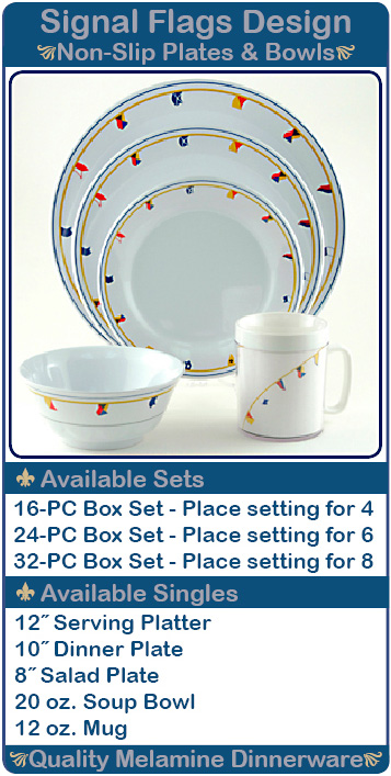Signal Flags Design Non-Slip Plates and Bowls