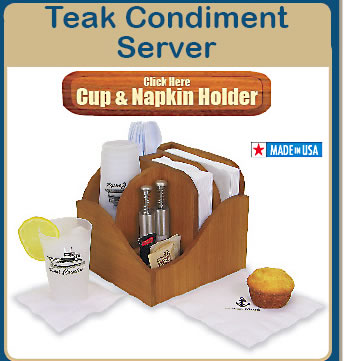 Click Here to Order Windproof Teak Cup & Napkin Server